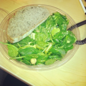 Sweetgreen Spinach Salad with Chickpeas and Avocado