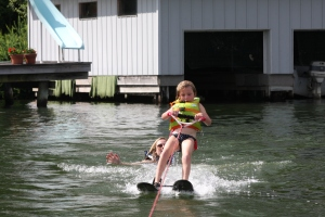 5 yr old Water Skiing